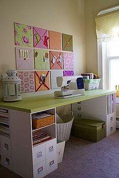 Taller / Oficina.  Foférrimo esse espaço para organizar as coisinhas de costura.