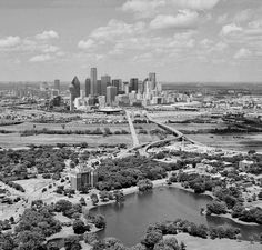 Looking towards Dallas from Lake Cliff Park circa late '80's