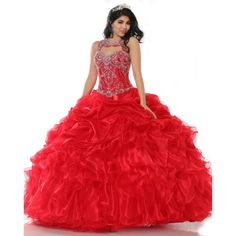 Find More Quinceanera Dresses Information about 2016 New Elegant Red Quinceanera Dresses Ball Gown Crystals Bead Organza Sweet 16 Dresses Vestidos De 16 Party Gowns QA1086,High Quality quinceanera dresses ball gowns,China red quinceanera dresses Suppliers, Cheap vestidos de 16 from Juliana Wedding Dresses Store on Aliexpress.com