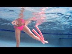 How to Do a Water Aerobics Side Leg Lift | Water Aerobic Exercise