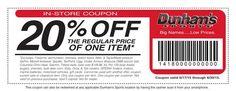 20% off reg. price of one item. Valid now thru 6/30/15