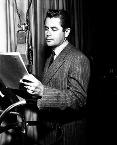 Glenn Ford, 1947 He was such a wonderful actor and after he had been in WWII they say he was excellent in his strong portrayals. When he played in Gilda with Rita Hayworth they could of never matched better chemistry in a million years.