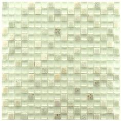 Merola Tile Tessera Mini Ming 11-3/4 in. x 11-3/4 in. x 8 mm Glass and Stone Mosaic Wall Tile-GITMMM at The Home Depot