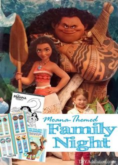 Try out some brand new family night ideas with a fun Moana-themed family night (with free printables). Then find out about our family night disaster. #Moana #ad #RWM