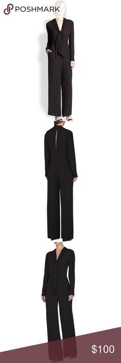 🌘BCBG Max Azria Long-Sleeve Black Jumpsuit size 0 BCBG Max Azria Long-Sleeve Black Jumpsuit size 0 BCBGMaxAzria Other