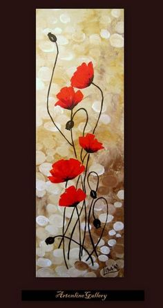 Original Acrylic Painting – Red Poppies Flowers Fields Red Beige Brown Floral Ab… Original Acrylic Painting – Red Poppies Flowers Fields Red Beige Brown Floral Abstract – Original Fine Art Contemporary Art – Made To Order Red Poppies, Red Flowers, Poppies Art, Poppies Tattoo, Floral Flowers, Acrylic Painting Flowers, Painting Abstract, Poppy Flower Painting, Poppies Painting