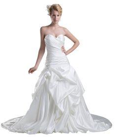 Herafa Sweetheart A-Line Wedding Dress Chapel Train Ruched & Box Pleat White Size:28 herafa,http://www.amazon.com/dp/B00BM6RQSA/ref=cm_sw_r_pi_dp_q.Pnsb0FDX473WJ3