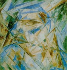 Blue Rayonism, 1913. Mikhail Larionov - was an avant-garde Russian painter & founding member of Jack of Diamonds (1909–1911) and the more radical Donkey's Tail (1912–1913). In 1913 he created Rayonism, which was the first creation of near-abstract art in Russia. He had a one-man show at the Omega Workshops.[1] In 1915 he left Russia and worked with the ballet owner Sergei Diaghilev in Paris on the productions of the Ballets Russes.