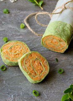 Buffalo Chickpea Tortilla Pinwheels ~ delicious vegetarian finger food | Inspired Edibles