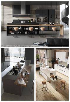 Studio Kitchen, Kitchen Room Design, Home Room Design, Modern Kitchen Design, Home Decor Kitchen, Modern House Design, Kitchen Living, Interior Design Kitchen, Modern Kitchen Interiors