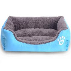 Anboo Pet Dog Cat Bed Cushion House Soft Warm Kennel Mat Blanket Large Blue ** Check out this great product. (Note:Amazon affiliate link) #DogBeds