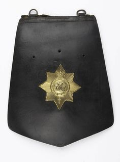 Officer's sabretache worn by Captain William Tyrwhitt Drake, Royal Regiment of Horse Guards, at the Battle of Waterloo, 1815 | Online Collection | National Army Museum, London