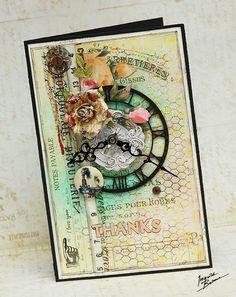 Thanks card * Prima, Dusty Attic and Scrapshop.ru * - Scrapbook.com