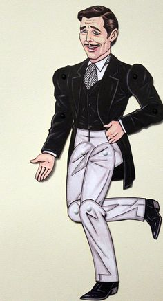 Gone with the Wind Rhett Butler Articulated Paper Doll, via Etsy.