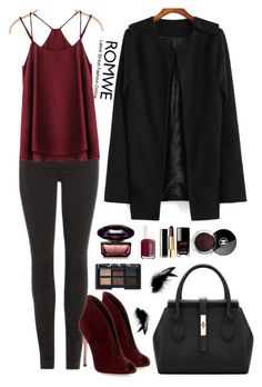 """Romwe 7"" by amra-f ❤ liked on Polyvore featuring J Brand, Gianvito Rossi, Chanel, Essie, NARS Cosmetics, Fall, 1d, romwe and 5sos"
