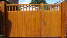 Image result for garden driveway gate with door