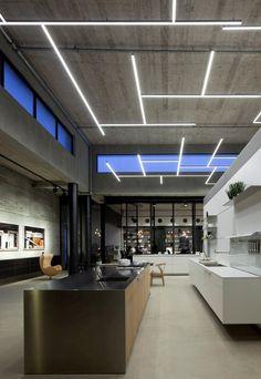#slim #light #lighting Bulthaup Showroom TLV / Pitsou Kedem Architects
