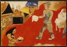 Marc Chagall(1887ー1985)「Purim」(c.1916-17)