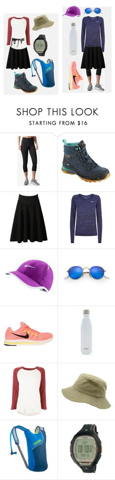 """""""Sem Series IV: Two Types of Sem Girls on Tiyul"""" by tokayerj on Polyvore featuring adidas, Teva, WithChic, NIKE, Ray-Ban, S'well, The Great, CamelBak and Timex"""