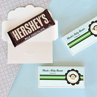 Personalized Blue Monkey Candy Wrapper Covers