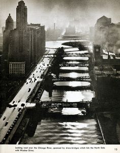 chicago river 1949 by fred korth
