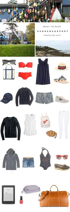 What to pack for a trip to Kennebunkport, Maine. The perfect packing list for a trip to the beach in New England. Covers everything you need to know about East Coast travel style.