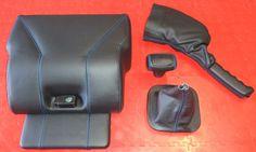 Landrover Defender 50th Anniversary cubby lid-gear gaitor-gear stick handle-handbrake gaitor By Ruskin Design