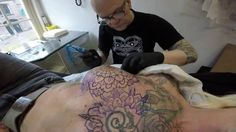 Getting boobs tattooed, not finished yet. Mrs.White Trash. www.whitetras...