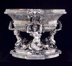 A FRENCH SILVER FIGURAL CENTERPIECE - by Freeman's. A FRENCH SILVER FIGURAL CENTERPIECE Boin Taburet, Paris ca. 1890