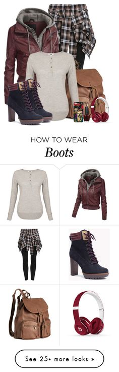 """""""High heel ankle boot"""" by melissa-chung-pnklmnade on Polyvore featuring H&M, LnA, OPI and Beats by Dr. Dre"""