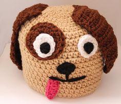 Puppy Beanie Adult Doggie Crochet Beanie by MsAmandaJayne on Etsy, $35.00