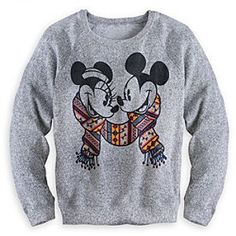 Size Small. I wish it wasn't sold out!  Disney Mickey and Minnie Mouse Sweater for Women | Disney StoreMickey and Minnie Mouse Sweater for Women - Travel to faraway lands of imagination in the cozy warmth and comfort of Mickey and Minnie's super soft and silky Peruvian-style sweater with raglan sleeves and heathered fabric.