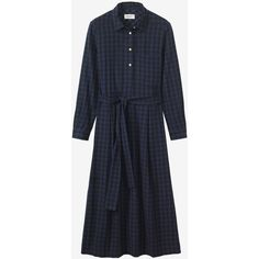 DOUBLE FACED GINGHAM SHIRT DRESS ❤ liked on Polyvore featuring dresses, shirt dress, reverse dress, gingham shirt dress, t-shirt dresses and gingham dress
