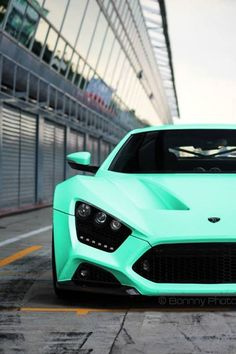 zen garage teal car