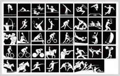 歴代オリンピックのピクトグラム《競技種目ロゴ》