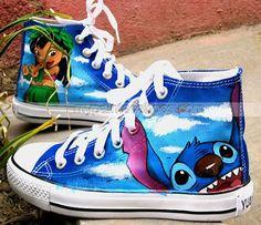 6c5b1820a9629 Stitch anime Lilo Stitch shoes custom sneaker shoes  Lilo  amp  Stitc  Disney Outfits