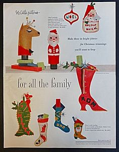 McCall's Holiday Pattern Ad - 1958