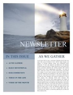 Free Church Newsletter Template Print  Newsletter  Places To