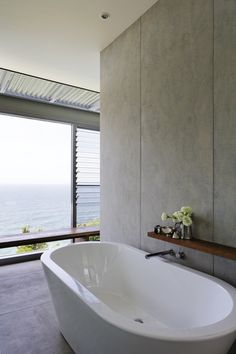 CSR Cemintel's BareStone used as bathroom walls - cement concrete look Architecture Bathroom, Feature Wall Cladding, Interior Cladding, House Bathroom, Bathroom Wall, House, Wall Cladding, Clifton Houses, Plywood Interior