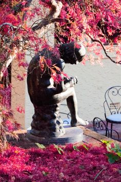 Delayed by Autumn Anne Of Green Gables, Historic Homes, Home And Garden, Gardens, Autumn, Colour, Statue, House, Painting