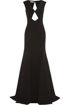 Cutout stretch-wool #gown #blacktiedress #blacktie #women #covetme #michaelkors #fashion #style #fbloggers #OOTD #Cannes2015