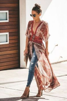 Kimono Fashion, Boho Fashion, Autumn Fashion, Funky Fashion, Japan Fashion, Fashion 2020, Fashion Women, Boho Outfits, Fashion Outfits