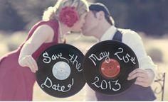 Save the date - creative wedding photo idea
