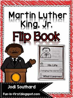 This Martin Luther King, Jr. Flip Book is a quick activity that is perfect for teaching about MLK. Students will read a two page biography about Martin Luther King, Jr. and then answer comprehension questions on the last Mlk Jr Day, Classroom Activities, Classroom Décor, Toddler Activities, Teaching Social Studies, King Jr, School Holidays, First Grade, Second Grade