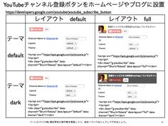 YouTubeチャンネル登録ボタン(公式)とは? http://yokotashurin.com/youtube/subscribe_button.html