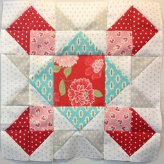 2012 FQS Designer Mystery BOM Block 5 by SewBlossomHeart, on Flickr Part of my 1st quarter FAL list was to catch up and keep up on my BOMs. I just received Block 8 for the 2012 Fat Quarter Shop Designer Mystery BOM and I was still only halfway through Block 5! But I'm proud to …