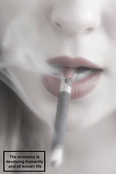smoking girl woman fashion sexy fetish ethical anti-government warnings life hope death lipstick red