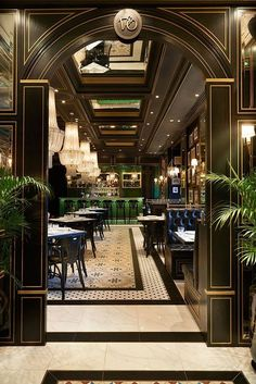 home interior design bathroom Luxury Restaurant, Restaurant Design, Restaurant Lighting, Restaurant Ideas, Hotel Lobby, Bar Interior Design, Interior Decorating, Decorating Games, Luxury Interior