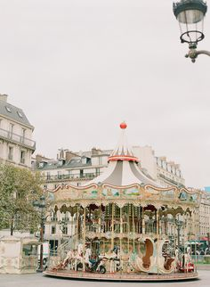 Carousel at Sacre Coeur, Paris, France Photo by Brittany Mahood