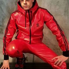 Jackets For Stylish Men. Jackets are a very important component to every single . - Jackets For Stylish Men. Jackets are a very important component to every single man's closet. Adidas Track Pants Mens, Nylons, Latex Men, Track Suit Men, Revival Clothing, Rain Wear, Look Cool, Stylish Men, Sportswear